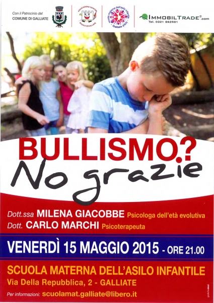 Bullismo serata Galliate
